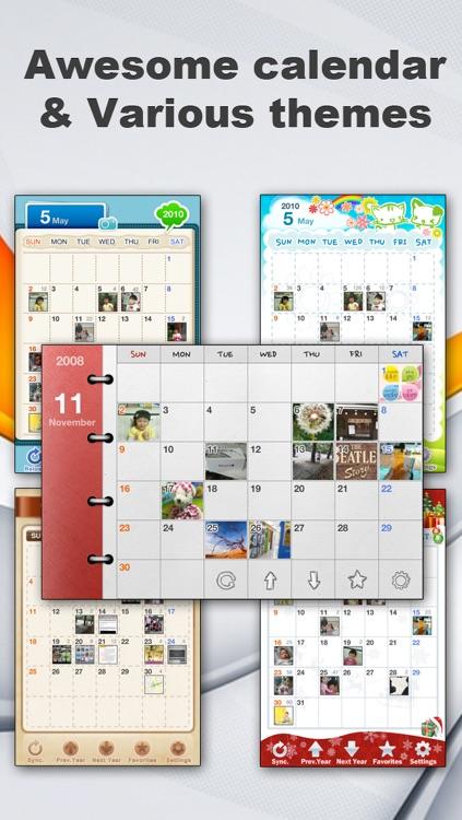 Awesome Photo Calendar + Memo & Audio Recording