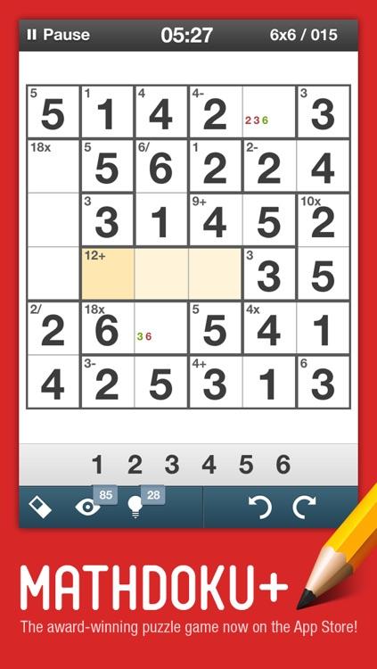 Mathdoku+ Sudoku Style Math & Logic Puzzle Game