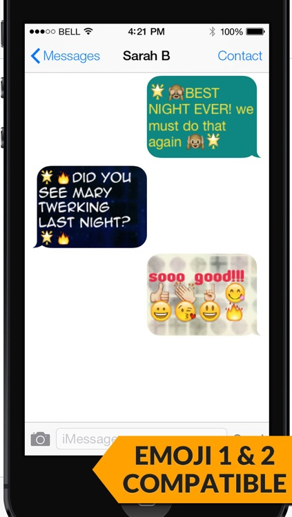 Pimp My Text - Send Color Text Messages with Emoji 2 screenshot-4