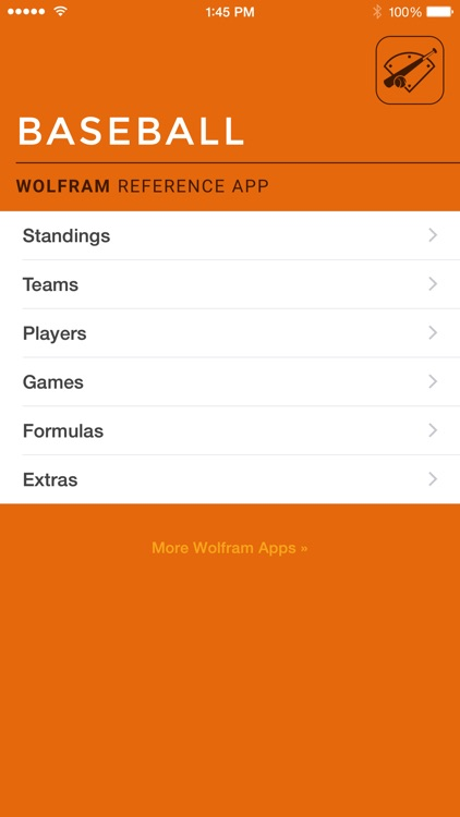 Wolfram Pro Baseball Stats Reference App screenshot-0