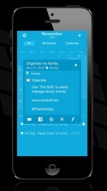 Midnight - The Grid Calendar screenshot-4