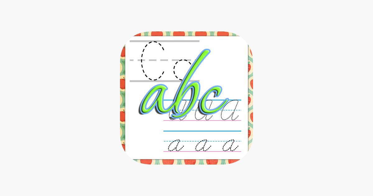 Brief Master: lernen, das Alphabet zu schreiben, Handschrift ...