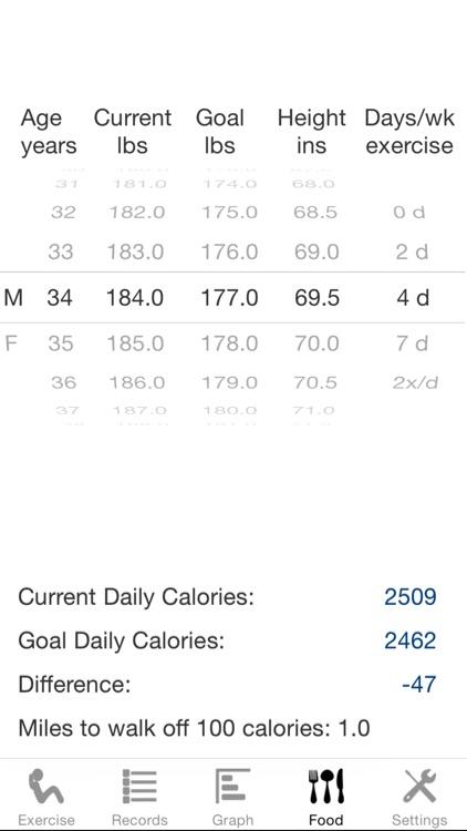 Exercise Calculator screenshot-3
