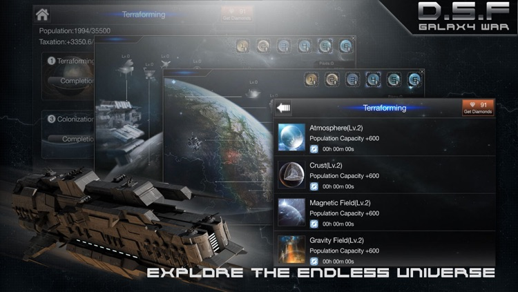Deep Space Fleet: Galaxy War screenshot-3