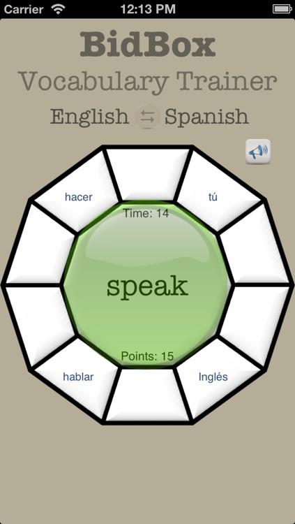 Vocabulary Trainer: English - Spanish