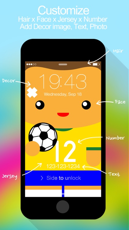 12th Player ( 2014 Soccer Jerseys : iFaceMaker ) Lite for Lock screen, Call screen, Contacts profile photo, instagram and iOS7 & iPhone screenshot-4