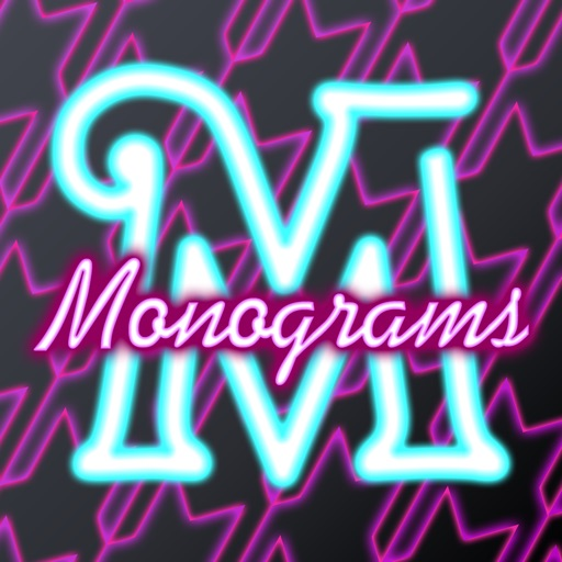 Neon Monogram - Designer Wallpaper, Icon Skin Monograms and Customized Backgrounds