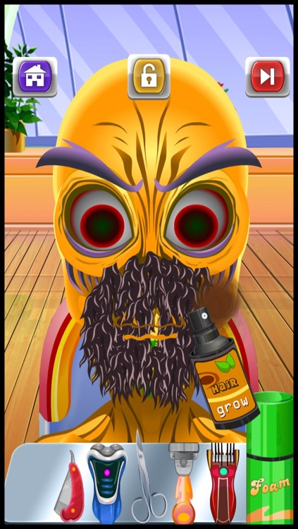 Baby Monster Shave & Makeover Salon - crazy little skin hair doctor shaving spa games for kids screenshot-3