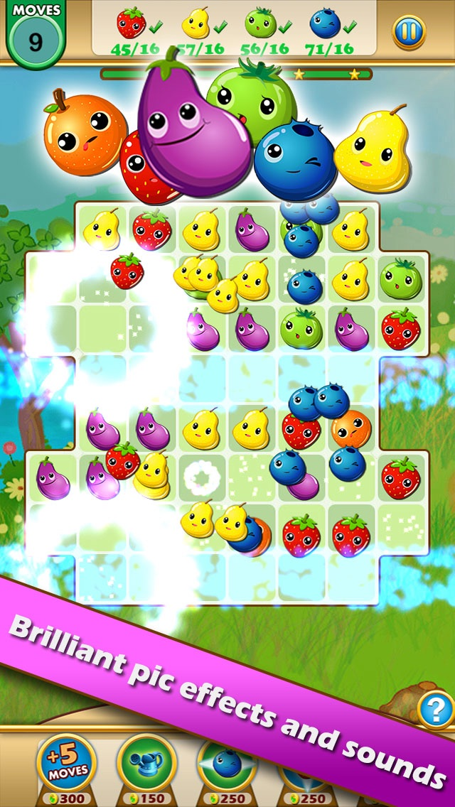 Fruit Legends™ - Free match-3 splash game(200+ levels)! Screenshot