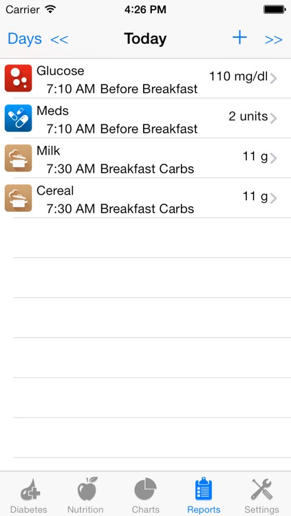 Track3 Lite - Diabetes Planner, Diabetes Glucose Logbook, Diabetes Tracker, Carb Counter