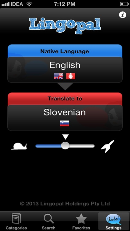 Lingopal Slovene LITE - talking phrasebook