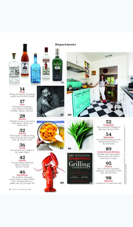 Saveur Magazine Archive screenshot-2