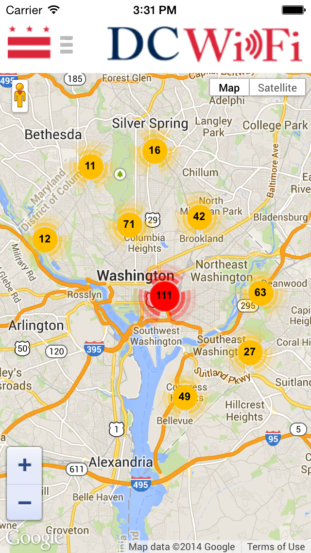 DC WiFi Hotspot Finder Screenshot on iOS