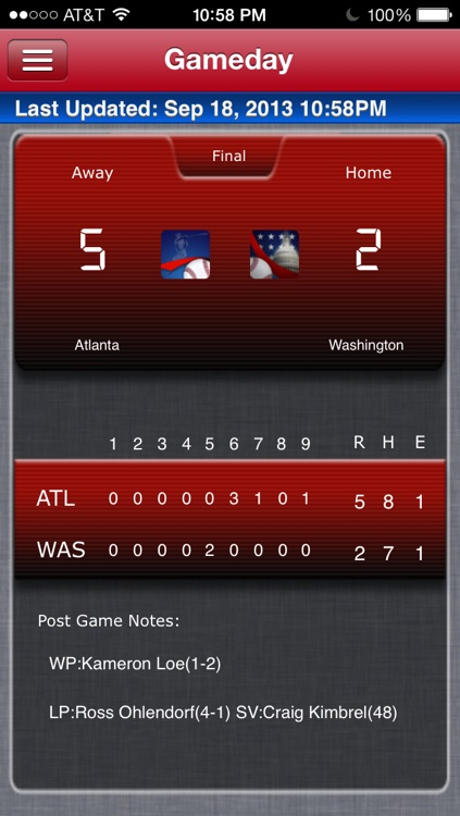 Washington Baseball Live