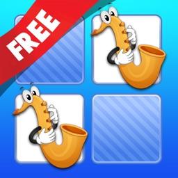 Free Memo Game Music Instruments Cartoon