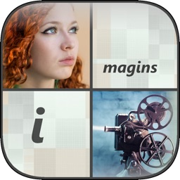 100 imagins - Reveal the picture, find hidden words & guess right