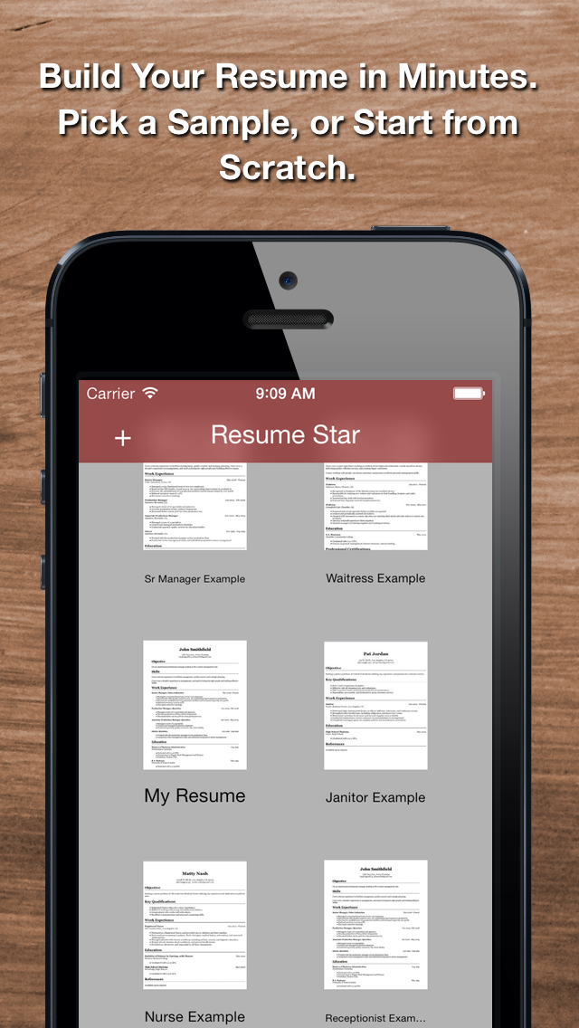 Resume Star: Pro CV Maker and Resume Designer with PDF Output to Help You Score that Job Interview and Advance your Career Screenshot