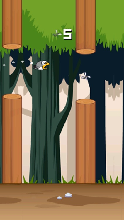 Flappy Forest - A tiny bird's endless clumsy jungle adventure