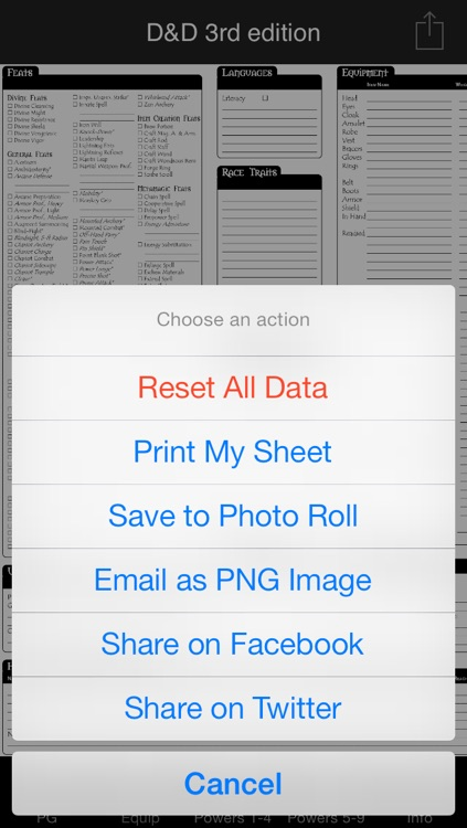 Real Sheet: D&D 3.0 Edition + Dice Table screenshot-3