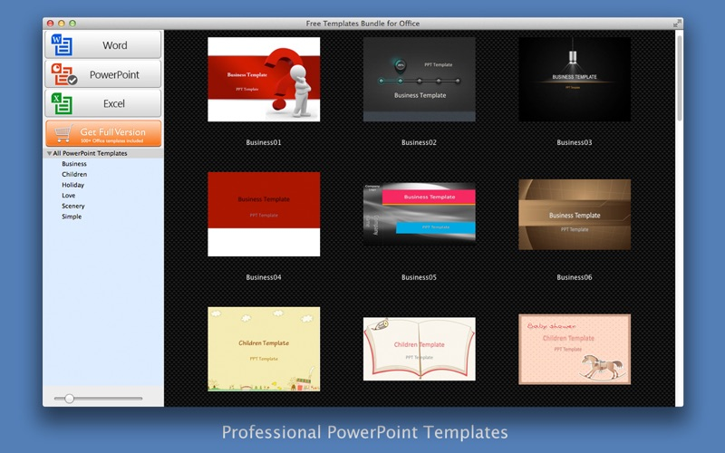 Free Templates Bundle for Office Screenshot