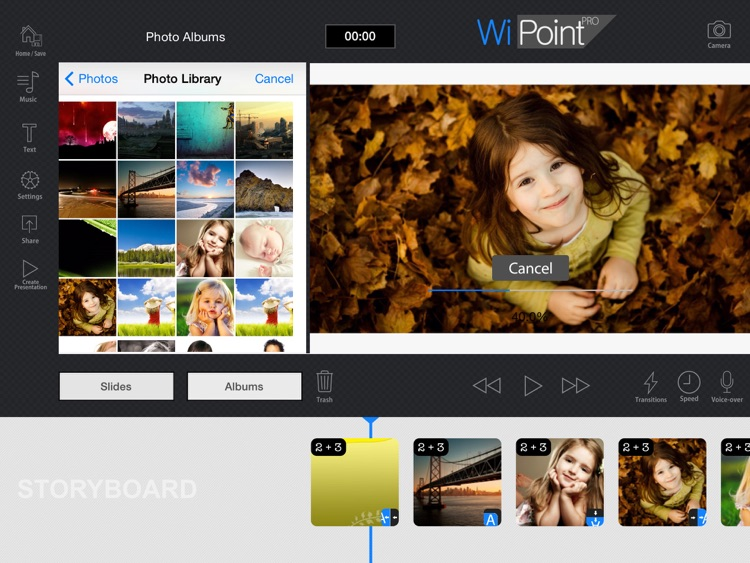 WiPoint HD - Make HD video presentation & photo slideshow screenshot-3
