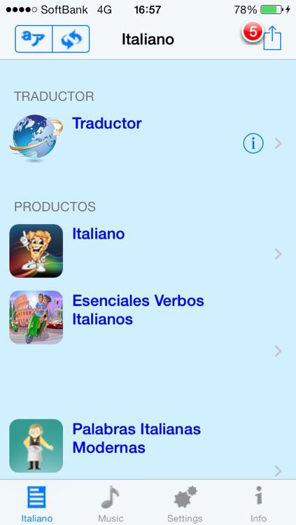 Italiano - Talking Spanish to Italian Translator and Phrasebook screenshot-3