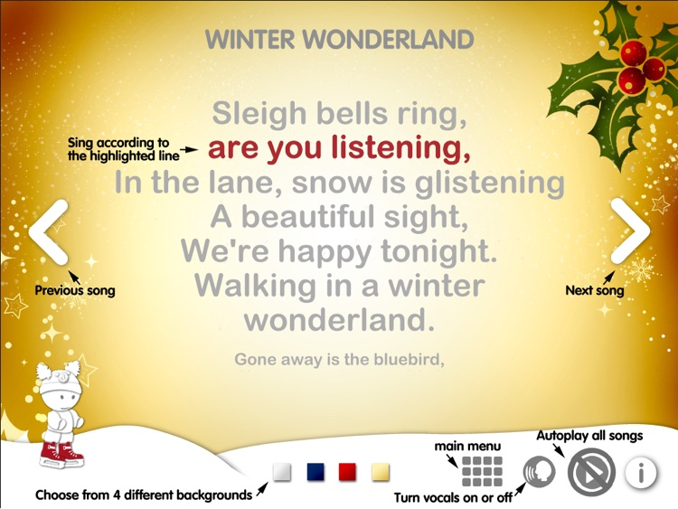 Christmas Karaoke App : 12 Carols screenshot-3