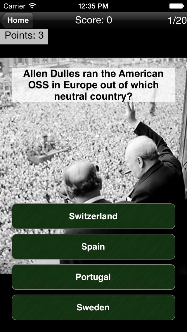 WWII: History Challenge screenshot one