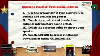Presidential Ringtone Director: Obama & Bush TTS Voices for Talking CallerID Ringtones Screenshot on iOS