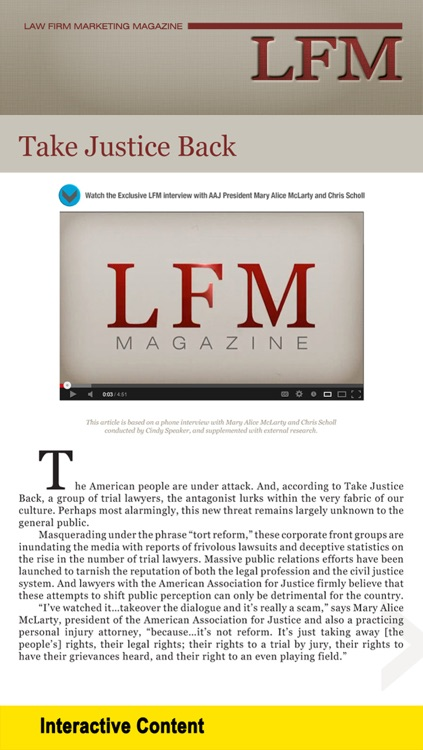 Law Firm Marketing Magazine: Interviews with Lawyers, Leading Marketing Experts and Industry Icons screenshot-3