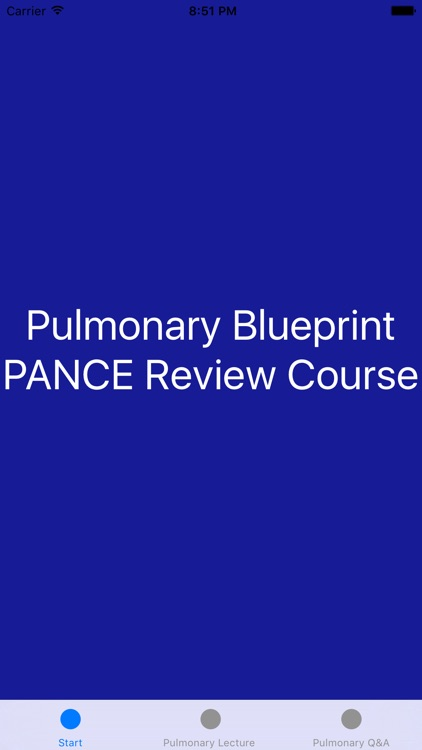Pulmonary Blueprint PANCE PANRE Review Course