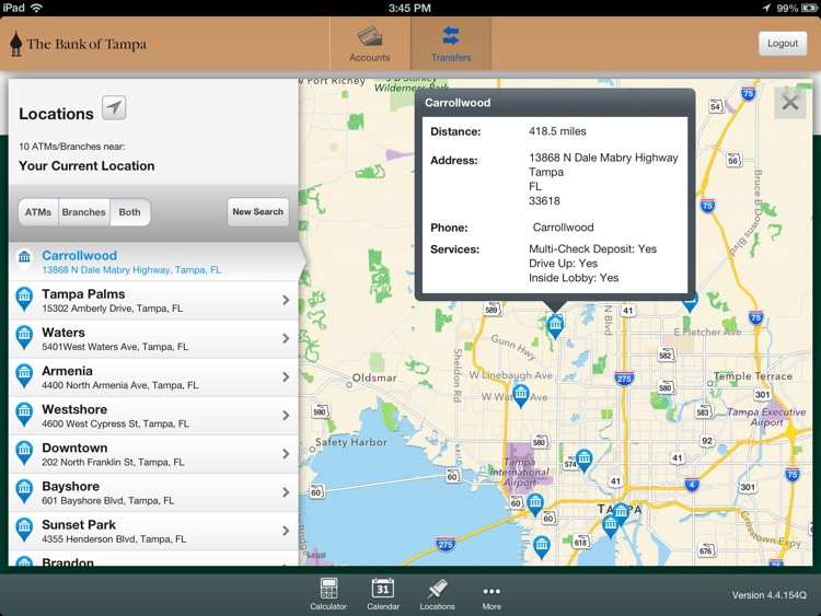 The Bank of Tampa Mobile Banking for iPad screenshot-4