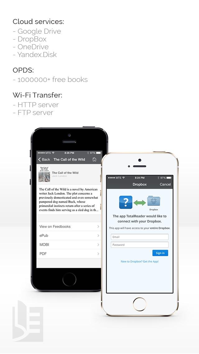 Screenshot #2 pour TotalReader for iPhone - The BEST eBook reader for epub, fb2, pdf, djvu, mobi, rtf, txt, chm, cbz, cbr