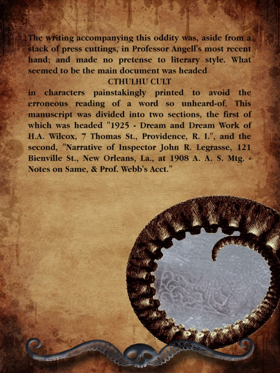 Totalbook - Call of Cthulhu : The Interactive and Illustrated Howard Phillips Lovecraft story screenshot-3