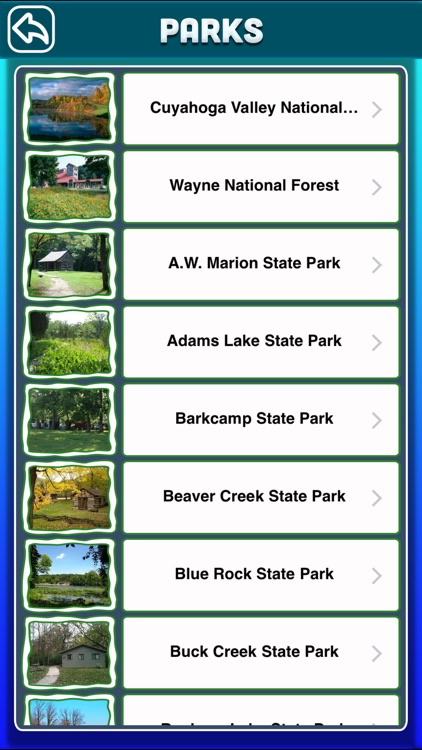 Ohio National & State Parks