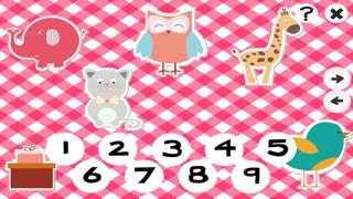 123計數嬰兒及兒童遊戲是免費的:有趣的玩與學數學的應用軟件!我的寶寶第一個號碼 - S&小動物屏幕截圖1