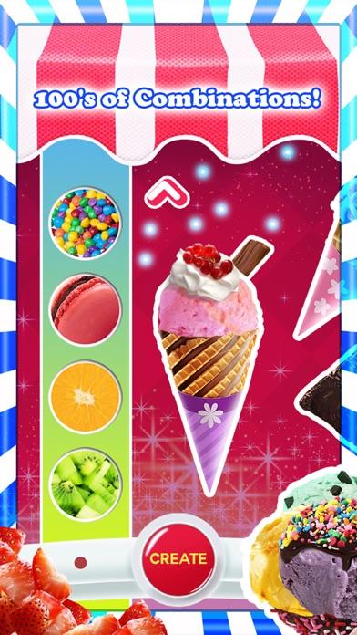 アイスクリーム - 無料ゲーム - フレーバーとトッピングのホストを使用して独自の甘いアイスクリームコーンを作るのスクリーンショット2