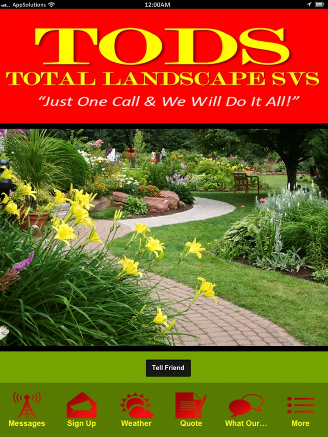 tods total landscape svs residential commercial services in