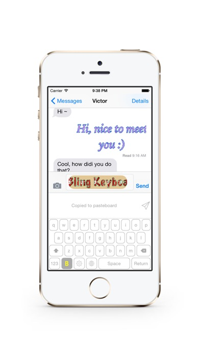 Bling Keyboard - Send Text in Bling Bling Animated Gif