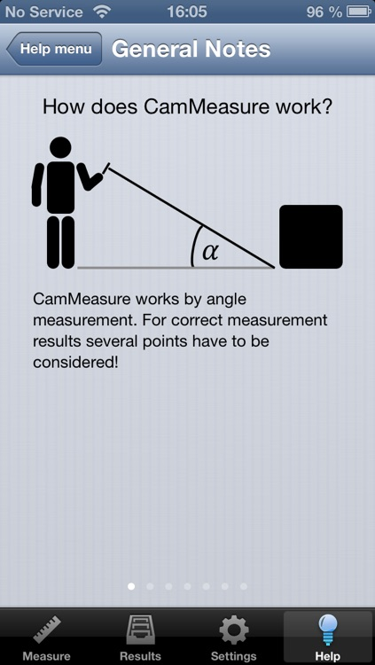 CamMeasure - Your tape measure for traveling and at home! With a few clicks you known every height, width, distance or area. screenshot-3