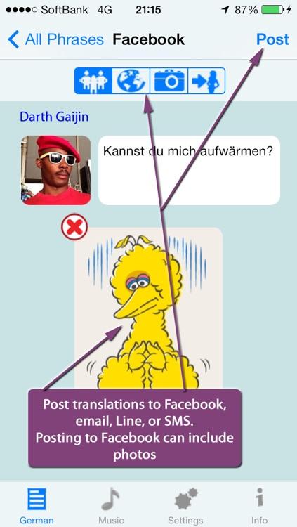 German - Talking English to German Translator and Phrasebook screenshot-4