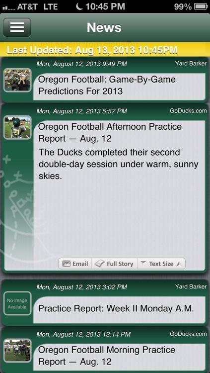 Oregon Football Live