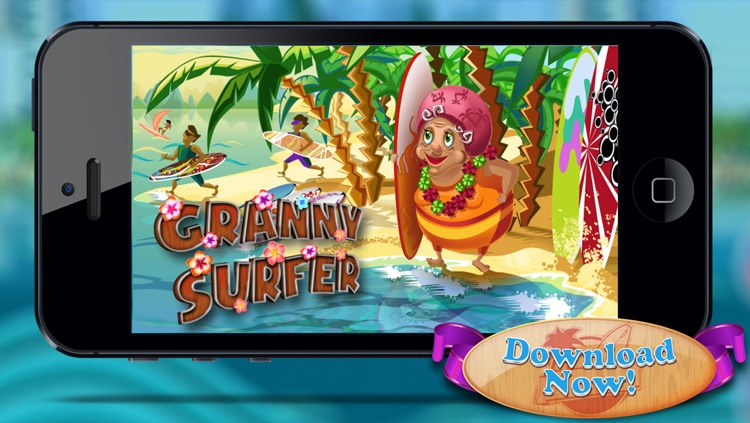 Granny Surfer - Crazy Big Wave Tropical Surfing Mania
