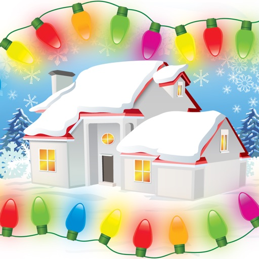 the christmas lights house decorator by michael archibald rh appadvice com Clip Art Christmas Light Decorations Blinking Christmas Lights Clip Art