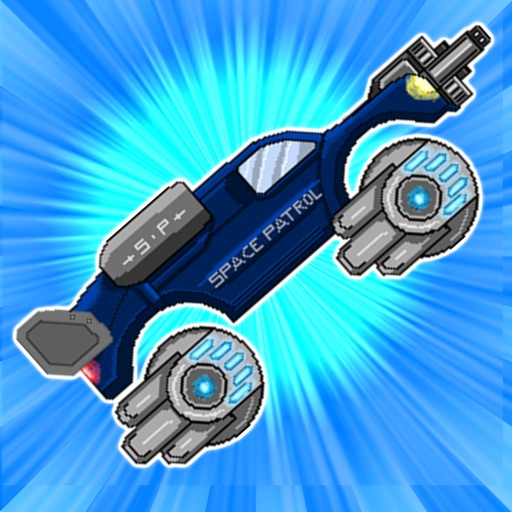 In Space Retro Shooting Monster Truck Racing Game