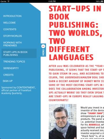 Screenshot of Frankfurt Academy Quarterly (FAQ): Where is the next Superman of publishing?