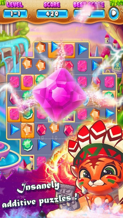 Jewels Match Deluxe: Hero Game Jem