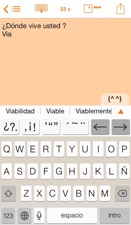 Easy Mailer Spanish Keyboard