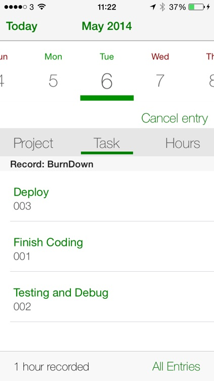 Burn Down - Personal Project Management and Time Tracking