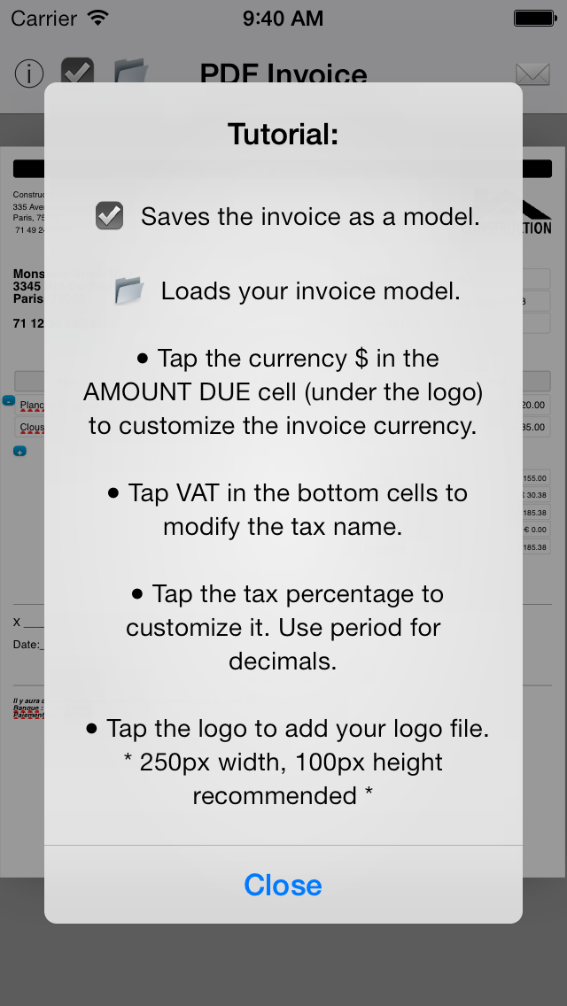 Simple Invoice Maker | Create PDF from your iPhoneのおすすめ画像2